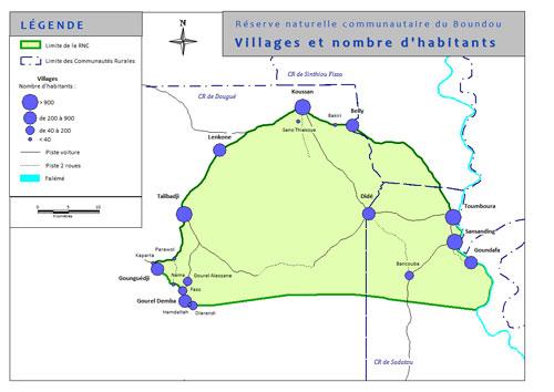 Carte des villages de la Réserve